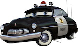 Disney-Cars-Sheriff - online jigsaw puzzle - 10 pieces