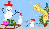 Three Snowmen - online jigsaw puzzle - 40 pieces