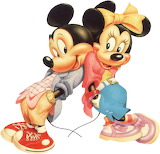 mickey-minnie - online jigsaw puzzle - 9 pieces