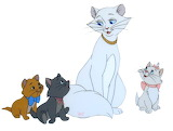 Aristocats_Duchess_Kittens - online jigsaw puzzle - 9 pieces