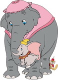 Dumbo-Mrs-Jumbo - online jigsaw puzzle - 12 pieces
