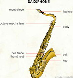 Saxophone - online jigsaw puzzle - 42 pieces