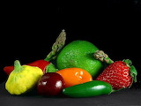 vegetables-asparagus-limes-strawberries-peppers-cheeries_w725_h5 - online jigsaw puzzle - 117 pieces