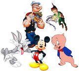 cartoon_characters-5179 - online jigsaw puzzle - 20 pieces