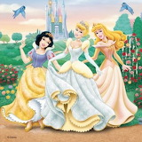 Printesele Disney 1 - online jigsaw puzzle - 16 pieces