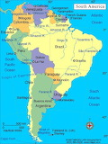 map_south-america - online jigsaw puzzle - 42 pieces